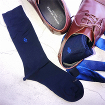 Mr. BJ Xu recommends the new mens business foreign trade style mens pure color high quality business cotton socks