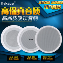 Flykace Fixed Pressure Suction Roof Broadcasting Audio Ceiling Roof Box Suction Roof Horn Embedded Fixed Pressure Horn Public Broadcasting System Shop Store Store Background Music