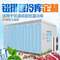 Frozen refrigerator full set of equipment aluminum drain small fresh fruit mobile cold storage frozen installation home 220v