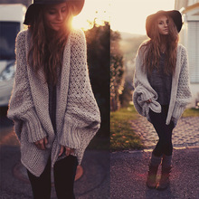 women knitted sweater loose knit cardigan ladies T-shirt