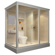 The whole shower room home overall powder room all-in-one bath room simple bath room dry 溼 separate bathroom