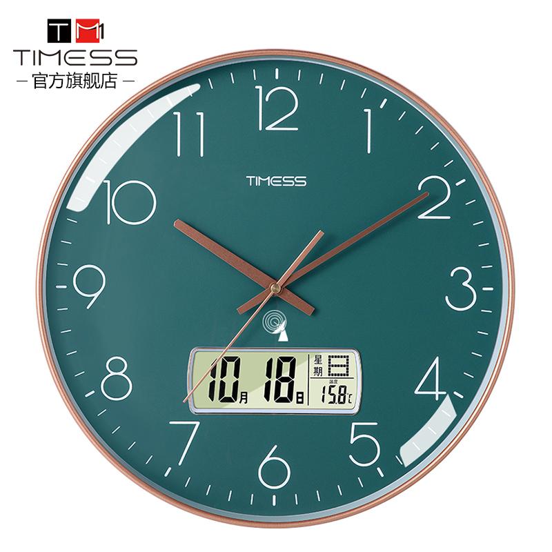 TIMESS часы часы часы настенные часы гостиной творческий дом стильный атмосферный висячий стол без перфорации легкий роскошный бесшумный звучный часы