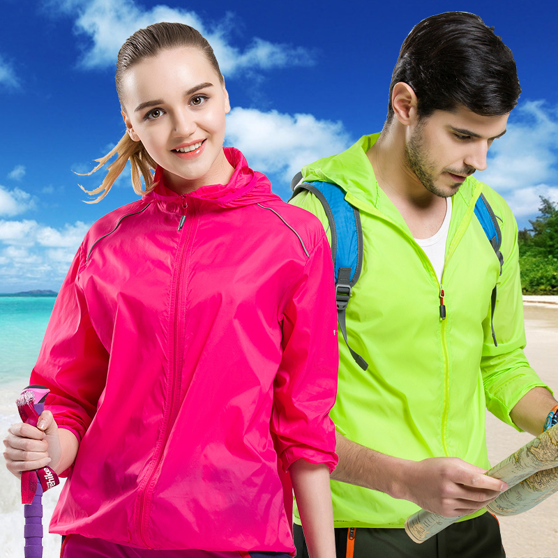 Outdoor summer couple skin fishing clothing sunscreen for men and women ultra-thin sports windbreaker quick-drying rainproof coat