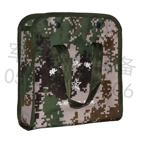07 Camouflage soldier washing bag sundries bag army fan toiletries housekeeping finishing bag handbag bottom mesh
