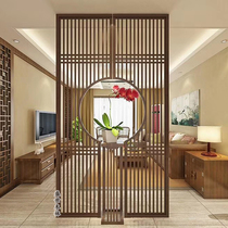 Dongyang wood carving solid wood flower grid hollow antique doors and windows partition New Chinese background wall carved ceiling decorative grille