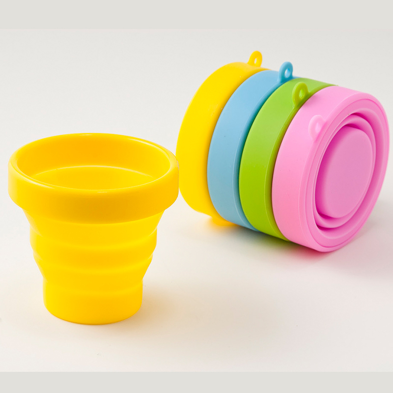 Easy Travel Folding Cup Retractable Cup Travel Outdoor Silica Retractable Cup Compressed Silica Gel Cup Portable Folding Cup