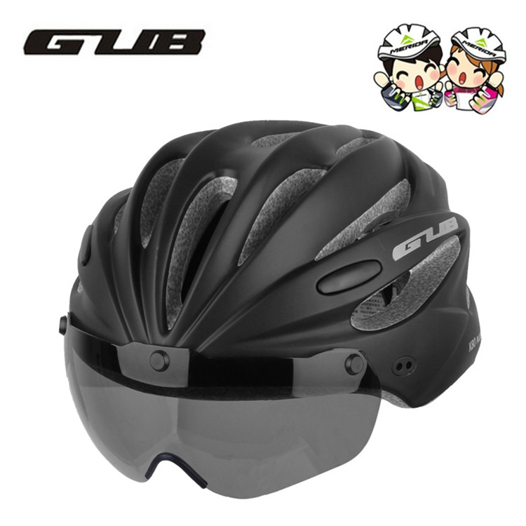 GUB mountain road bicycle riding helmet with goggles integrated molding helmet men and women Merida equipment