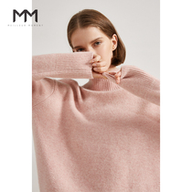Shopping mall same MM lemon sweater woman 2019 new winter loose high collar cashmere knitted sweater 5A9130403Q
