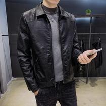 Осень и зима 2019 новая натуральная кожа мужская куртка корейская повседневная черная молодежная мода красивый пиджак