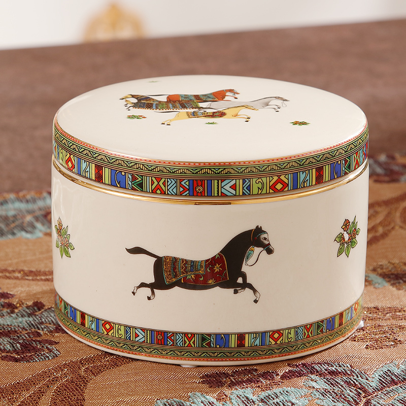 Maarten Shengshi Creative Storage Tank European Jewelry Box Moistureproof Ceramic Reception Tank Home Decoration Arrangements