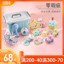 Newborn toys 3-6, 3-6, 3 months, 7 months, hand-ringing, gripping, training, puzzle 4, two babies 4, 5, 60-1 and a half years old