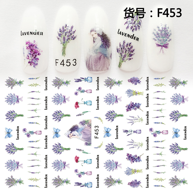 Nail Sticker Ornaments Nail Sticker South Korea Waterproof 3D Nail Full Sticker Net Red Tremble Sticker Decoration F453