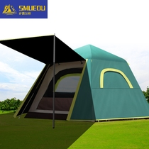SMUEDU tent Outdoor automatic quick-open camping thickened anti-rain sunscreen 3-4 people convenient camping tent