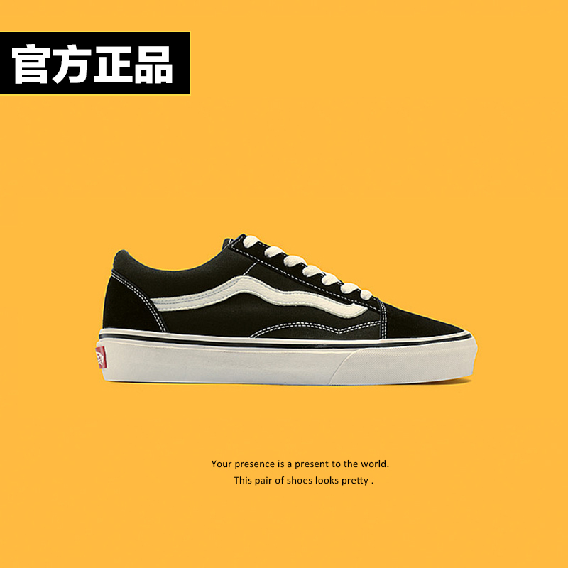 Authentic Vance official website flagship store women's shoes high low top canvas sports shoes men's official classic lovers trend