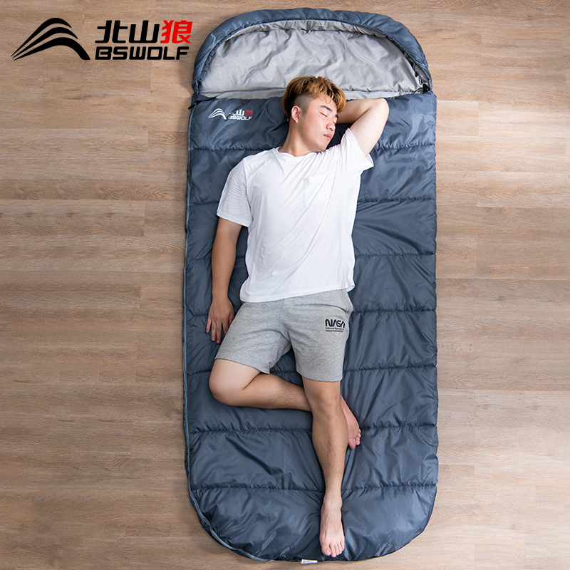 North Mountain Wolf Sleeping Bag Adult Outdoor Camping Four Seasons Universal Winter Thickened Cold-Proof Single Adult Portable