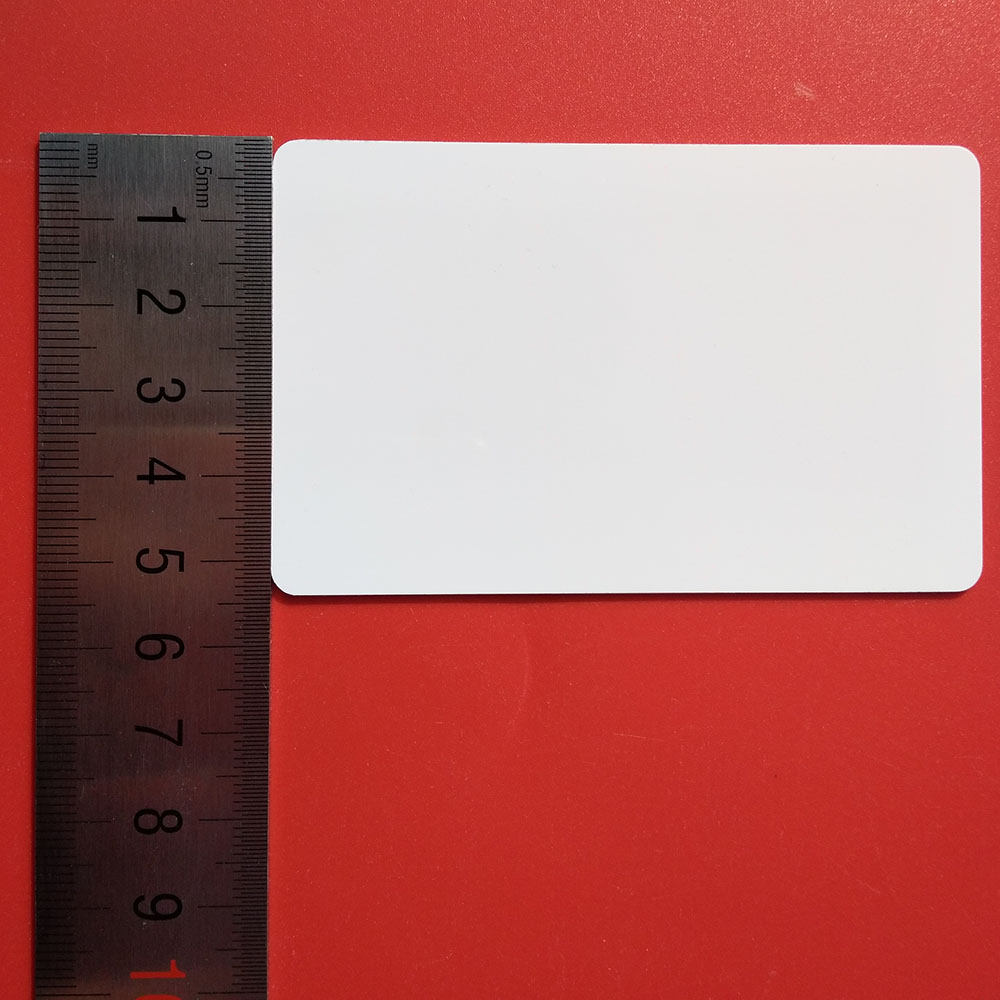 UHF RFID remote RF white card 9662 can be printed to support customized UHF printed white card induction