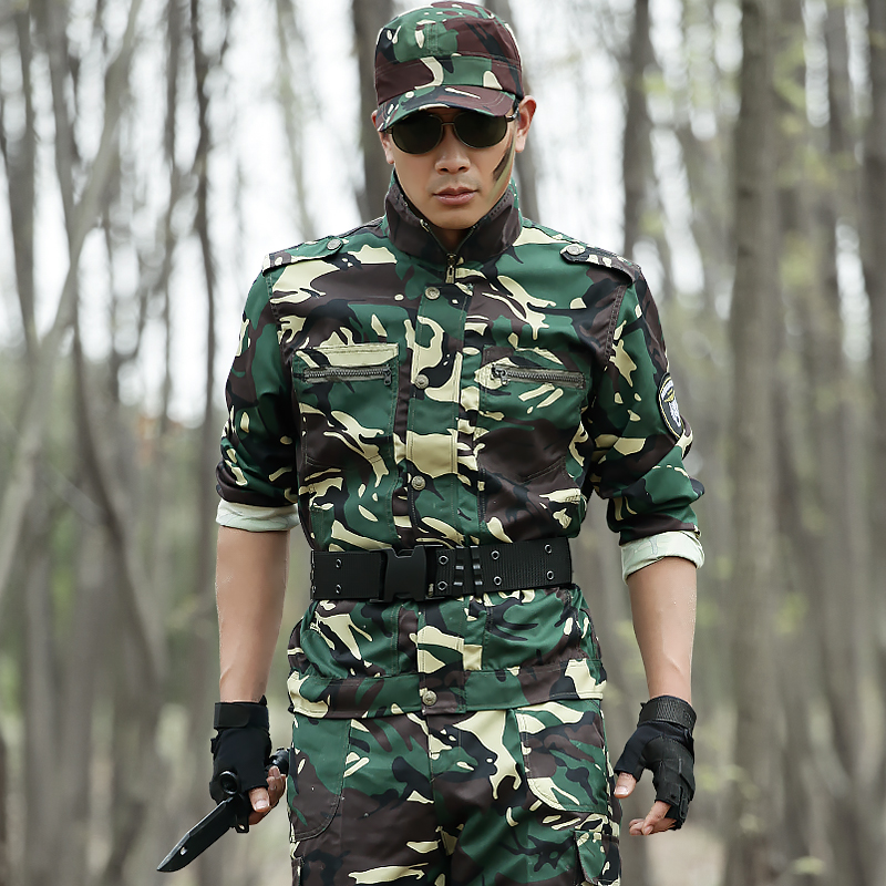 Shield Lang outdoor special forces camouflage military training uniform training uniforms military enthusiasts military uniform suit men and women spring and summer overalls