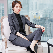 Suit Suit Woman Korean Spring and Autumn Fashion Business Interview Formal Workwear Workwear Temperament Professional Suit Woman