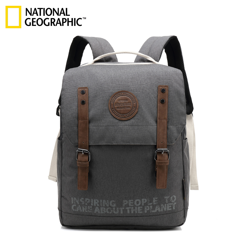 [The goods stop production and no stock]Burning Gyroscope National Geographic Shoulder Bag Couple Student Bag Ins Super Fire Backpack Korean Edition Chao Waterproof