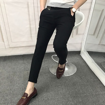 Spring summer simple Korean self slim Joker of nine youth fashion stylist pants feet pants City boy