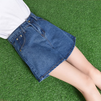 Female summer 2017 new stylish high waist denim shorts autumn Korean hot pants loose elastic wide leg pants a tide