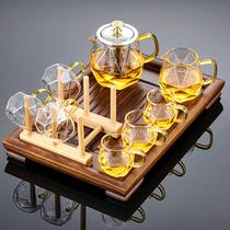 玻璃茶具套装家用功夫茶壶茶杯日式小型泡茶用品办公室会客用高端
