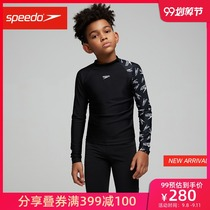 Speedo Speedo Refed Phenomenon Boys Sunscreen Top Swimsuits tightly 緻 fit effectively against chlorine sun protection