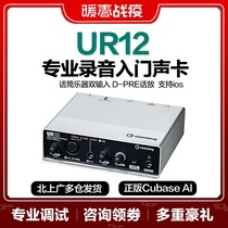 Yamaha yamaha UR12 carte son guitare électrique audio interface professionnel enregistrement arrangeur doublage diffusion ensemble