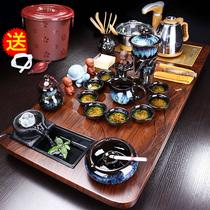 Tea set Household living room office with high-end guest tea table Tea table Kettle Tea tray Automatic integration