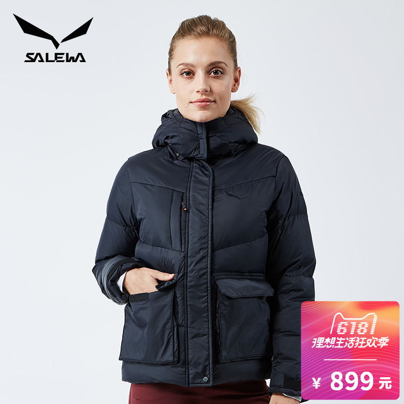 SALEWA couple's hooded cardigan down jacket 26835/26836 men's and women's warm jacket in autumn and winter