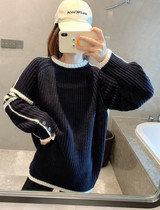 Namei Japan Thom Browne autumn and winter New TB four-bar round neck pullover wool sweater men and women