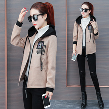 2018 women's clothing in the late autumn and winter, the new style of fashion jacket, thicker jacket, Korean version of the short jacket.