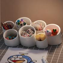 多功能笔筒收纳盒创意可爱大容量儿童女孩学生桌面笔盒女ins挂式
