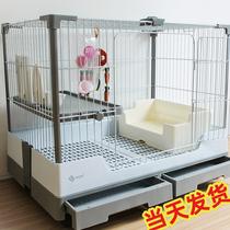 Клетка для кролика Dayang R81 с двойным ящиком защищенная от брызг клетка для кролика с мочой бытовая клетка для кролика королевского размера голландская свинья автоматическая клетка для очистки