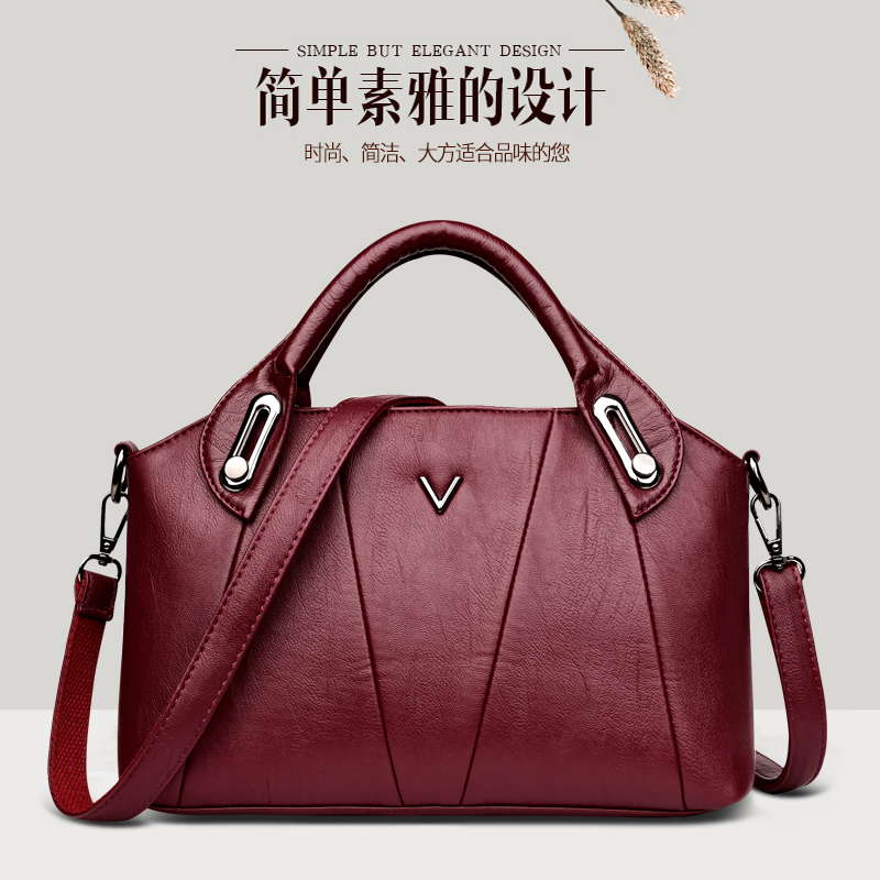 Mother's Bag Girl 2019 Single Shoulder Slant Bag Atmospheric Simple Hand-held Middle-aged and Old-aged Women's Bag 5060-year-old Mother-in-law