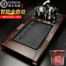 Полностью автоматическая чайная тарелка твердого дерева один-в-одном индукционная плита каменный чай чай морской домашний офис кунг-фу чайный 託 простой