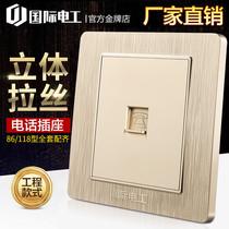 Дом переключатель розетка панель 86 телефонная панель один порт телефонная линия интерфейс одно отверстие вставить скрытый телефон розетка