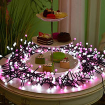Su Cai New Year Christmas girl heart room decoration firecracker lights LED lights flashing lights string lights Starlight string