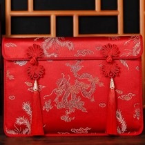 30000 to 80000 yuan wedding gold idea to increase the red bag wedding supplies Chinese wind embroidery is a bag