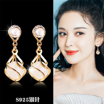 Ancient gold pearl drop earrings high-end temperament earrings high-end earrings 2021 new trend summer net red with the same