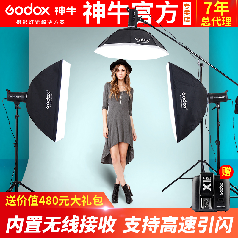 SHENNIU PHOTOGRAPHIC LAMP SK400W SUIT PHOTOGRAPHY ROOM FLASH SUPPLEMENTARY LIGHT