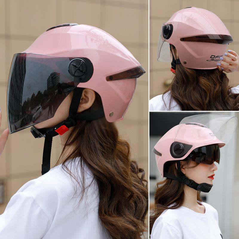 DFG electric motorcycle helmet childrens gray winter summer male and female Harley half helmet four seasons light hard hat