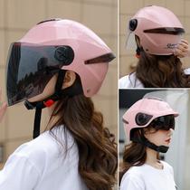 DFG battery electric motorcycle helmet gray winter and summer mens and womens half helmet four seasons universal lightweight childrens helmet
