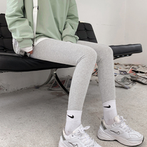 Gray thread leggings womens outer wear spring and autumn thin stretch in autumn pants winter plus velvet thick warm cotton pants