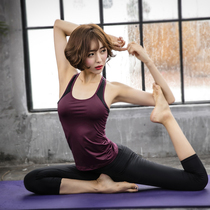 Korean yoga suit Female summer sexy with breast pad gym professional sports show thin quick dry fitness suit two pieces of suit