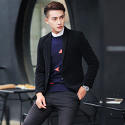 New winter men's suits young British trend of Korean casual suit slim wool suit male