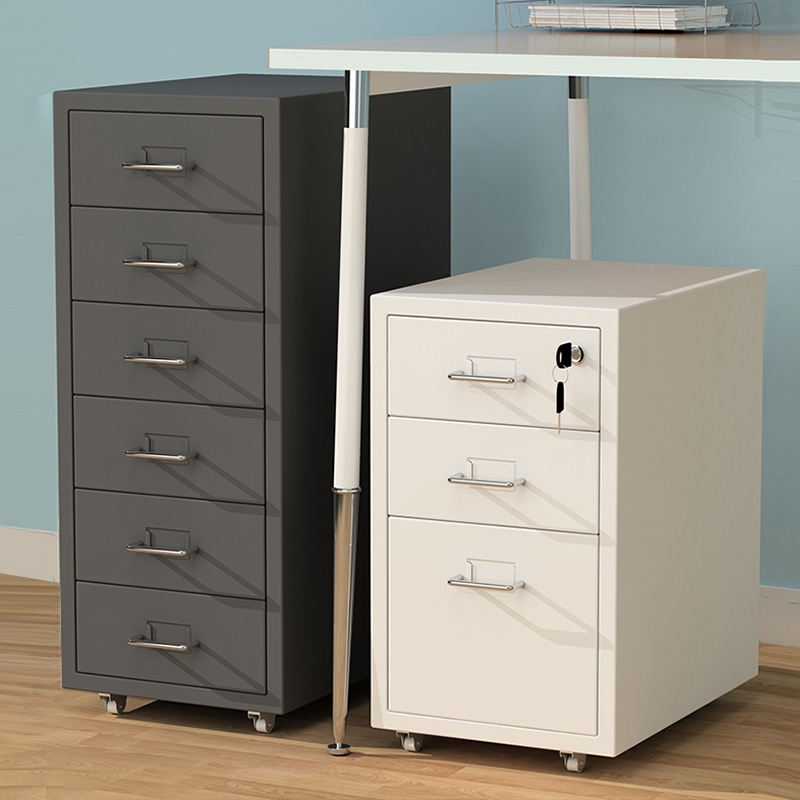 File cabinet under the desk of the activity cabinet tin drawer cabinet with lock color data locker table side low cabinet