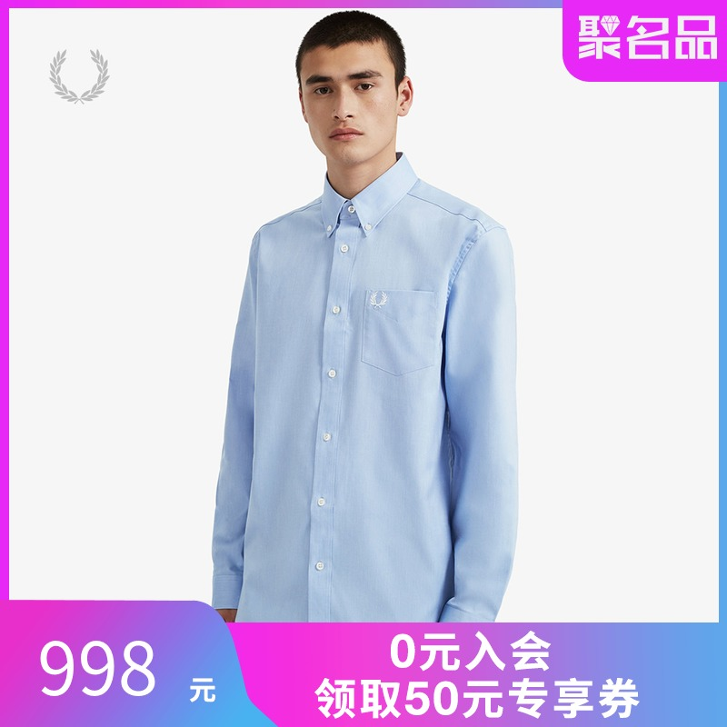 Fred Perry men's shirt spring and summer 2020 new fashion trend leisure long sleeve shirt m8501