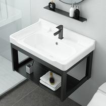 Bathroom wall-mounted washbasin cabinet combination small household powder room one-piece washbasin basin washbasin
