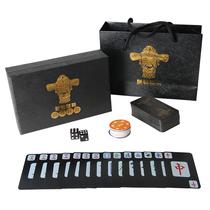 Mahjong brand home waterproof paper mahjong poker trumpe small portable thickened plastic PVC travel mahjong poker cards
